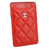 Chanel Quilted iPhone Case Red