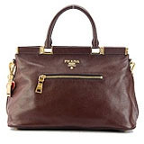 Prada Designer Handbag Brown